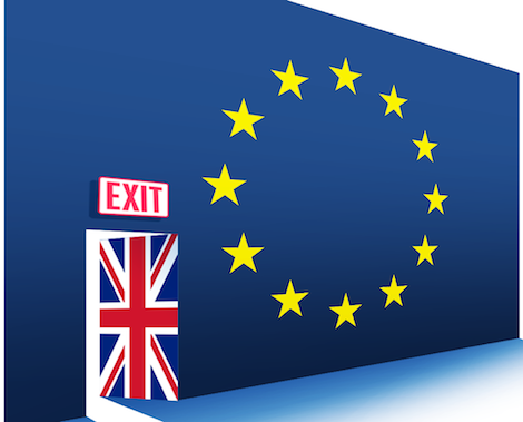 european flag showing exit from EU