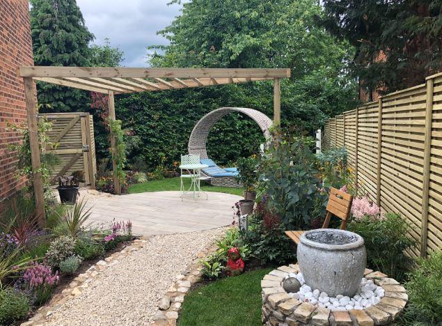 View of Georgie's garden
