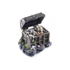 Treasure chest, aquarium ornament.