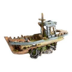 fishing boat, aquarium ornament.