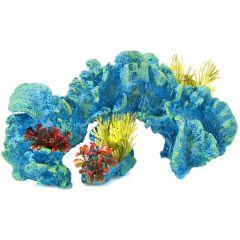 Turquoise coral, aquarium ornament.