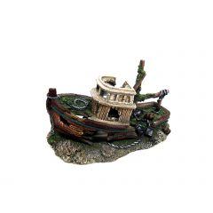 Aquarium Ornament Broken Shipwreck