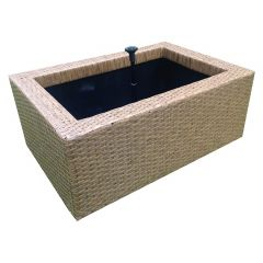 Brown, water feature, heissner, garden pond