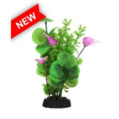 plastic aquarium plant, with base.