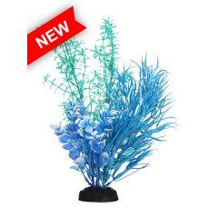 blue aquarium plant with base.
