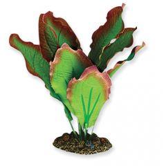 red and green silk aquarium plant.