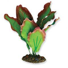 Red and Green plastic aquarium plants.