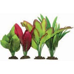 4 pack of silk aquarium plants.