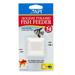 Prymid fish feeder, for 14 day block