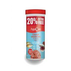 Tub of AquaCare Colour Enhancing Flakes.