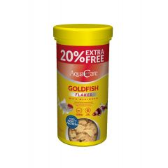 AquaCare Goldfish Flakes with Mealworm 45g (Plus 20% Extra Free)