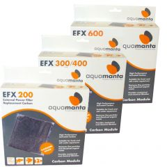 AquaManta EFX Standard External Filter Carbon Pack