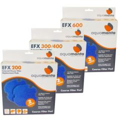 AquaManta EFX Standard External Filter Coarse Sponge Filter Pad 2 Pack
