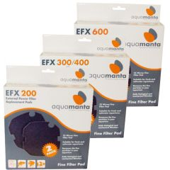 AquaManta EFX Standard External Filter Fine Sponge Filter Pad 2 Pack