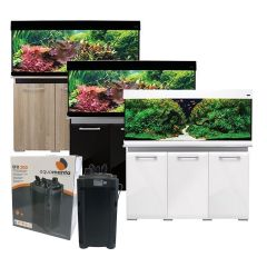 Aqua One AquaVogue 245L Aquarium and Cabinet with Exclusive External Filter and Heater