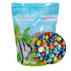 Aqua Range 'Aqua-Substrate' Gravel - Rainbow Pebbles 2kg