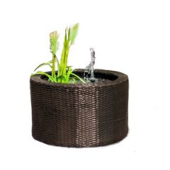 Certikin Rattan Patio Pond Kits Working Fountain with live plants