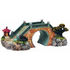 Large bridge, aquarium ornament.
