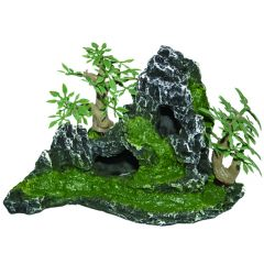 small rockery aquarium ornament.
