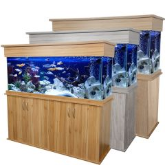 double oak cabinet, elite aquarium