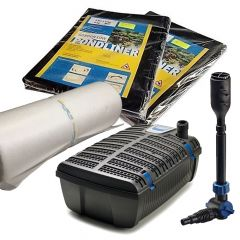 2m x 1m Pond Kit Filter Pump UVC Liner and Underlay Package