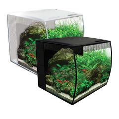 fluval, flex 57, black, white, aquarium