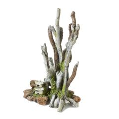 Grey driftwood aquarium ornament.