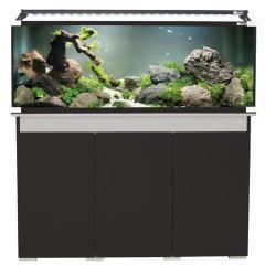 182 aqua one aquarium. Black cabinet.