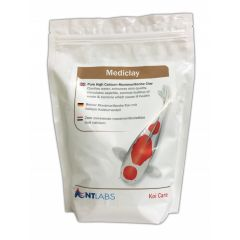A sachet of NT Labs KoiCare Mediclay treatment.