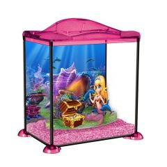 Pink Mermaid, child's marina aquarium