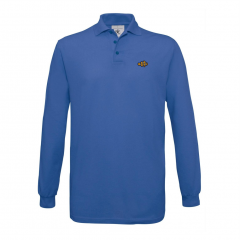 long sleeves, polo shirt, mens, blue
