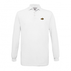 white, mens, polo, long sleves