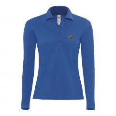 polo shirt, long sleeve, ladies, blue