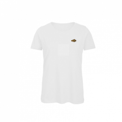 ladies, t-shirt, white