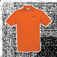 orange, men's, polo shirt
