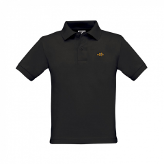 polo shirt, kids, black
