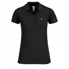 Black, ladies polo shirt