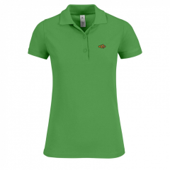 green, ladies, polo shirt.