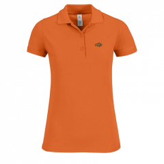 ladies, polo shirt, orange