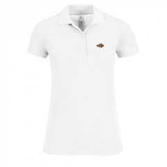 polo shirt, ladies, white