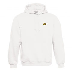Clownfish Clothing Unisex Hooded Sweatshirt Ogon White