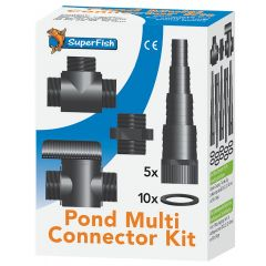 Superfish Black 5 piece pond connector kit