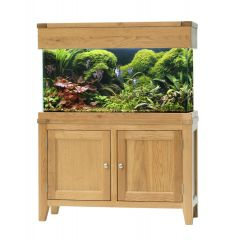 100cm aqua oak aquarium with stand and hood