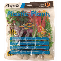 6 piece medium plastic plants