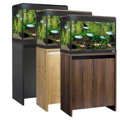 Fluval Roma 90 LED Aquarium and Cabinet Set with tropical fish tank