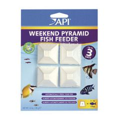 Weekend fish feeders-pyramid shaped.