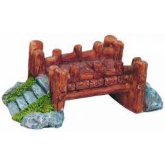 a small wooden bridge, aquarium ornament