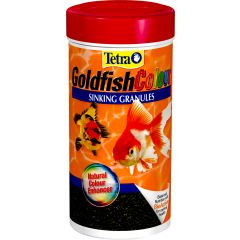 Tetra goldfish flakes, in a 100g tub.