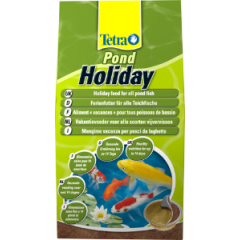 bag of tetra pond holiday food.