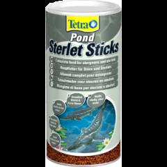 tub of tetra pond sterlet sticks.